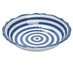 Rue Melamine Striped Bowl,
