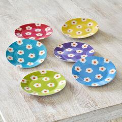 Daisy Dessert Plates, Set of 6,