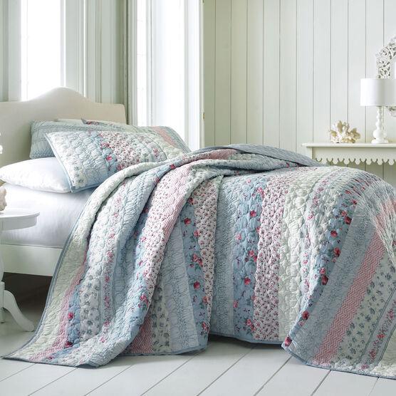 Claudine Floral Printed Bedspread,