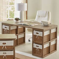 Coco Desk with Baskets,