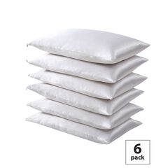 Fresh Ideas Satin Hair Keeper 6-Pack Pillow Protector Set,