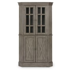 Mountain Lodge Gray Corner Cabinet,