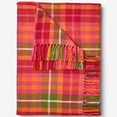 Plaid Tassel Throw, PINK MULTI