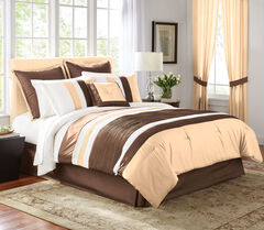 Bedford 8-Pc. Comforter Set, CHOCOLATE