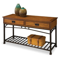 Modern Craftsman Distressed Oak Sofa Table ,