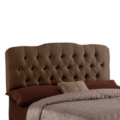Upholstered Tufted Headboard in Shantung,
