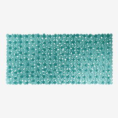 Extra Long Tub Mat With River Stones Design,