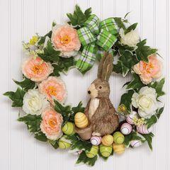 Easter Egg & Bunny Wreath,