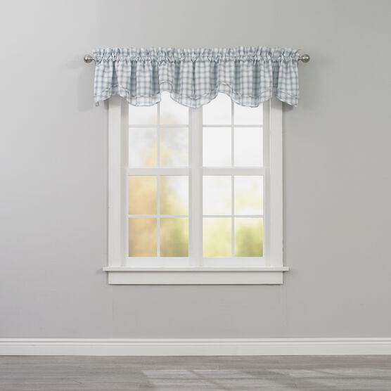 Country Check Layered Valance,
