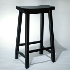"Antique Black with Sand Through Terra Cotta Bar Stool, 29"" Seat Height,"