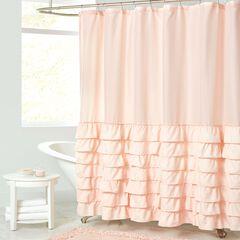 Melanie Ruffled Shower Curtain,