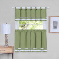 Dakota Window Curtain Tier Pair and Valance Set,
