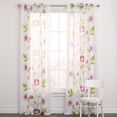 BH Studio Gabby Printed Voile Rod-Pocket Panel,