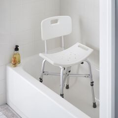 Deluxe Bariatric Shower Chair with Cross-Frame Brace,