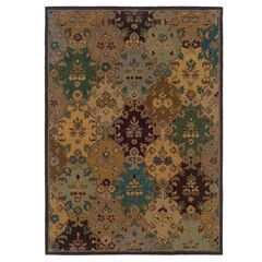 Trio Traditional Multi 5'X7' Area Rug,