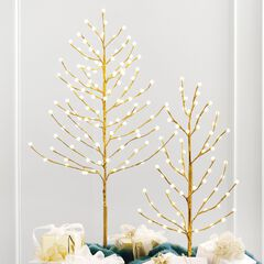 4' Lighted Gold Bead Tree,