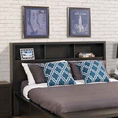 District Double/Queen Headboard, Washed Black,