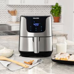 Stainless Steal XL Smart Fryer Pro with Trivet ,