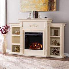 Tennyson Electric Fireplace with Bookcases,