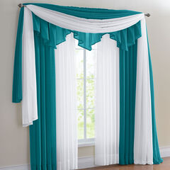 BH Studio Sheer Voile Ascot Valance, TEAL
