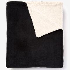 BH Studio Sherpa Microfleece Blanket, BLACK