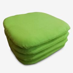 Set of 4 Stacking Chair Pads, LIME GREEN