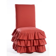 3-Tier Ruffled Dining Chair Slipcover by Classic Slip Covers, Inc.,