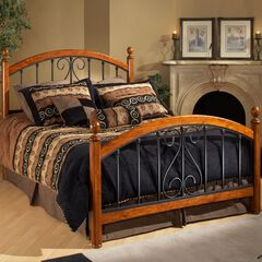 King Bed with Bed Frame, 83½'Lx77'Wx54¼H',