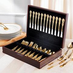 61-Pc. Gold Flatware Set,