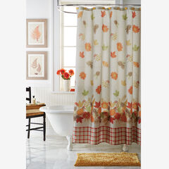 13-Pc Harvest Leaf Shower Curtain Set,