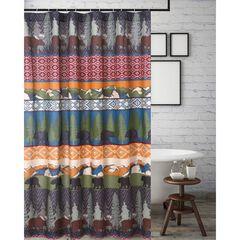 Black Bear Lodge Shower Curtain by Greenland Home Fashions, MULTI