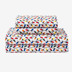Holly Jolly Microfiber Sheet Set,