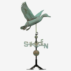 Copper Duck Weathervane , VERDIGRIS
