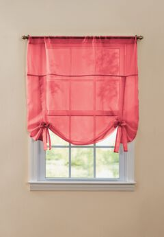 BH Studio Sheer Voile Tie-Up Shade, RED