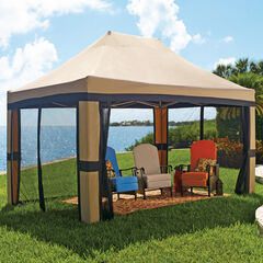 Oversized 10' x 15' Instant Pop Up Gazebo With Screen,