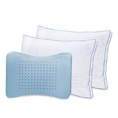 SensorPEDIC MemoryLOFT Deluxe Gusseted Pillow with Memory Foam Center,