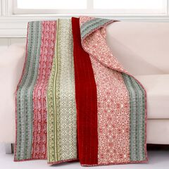 Greenland Home Fashions Marley Quilted Throw Blanket,