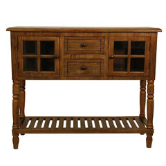 Natural Wood Buffet Console by J. Hunt,