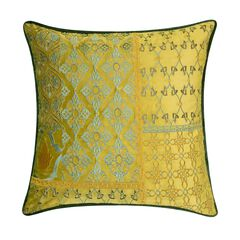 Velvet Patchwork Embroidered Decorative Pillow ,