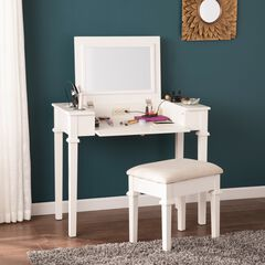 Rovelli Powered Vanity Desk with Stool,