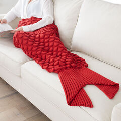 Red Mermaid Blanket, RED