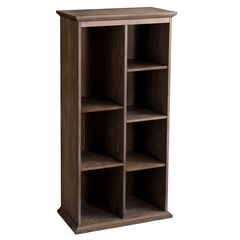 Farmhouse-Styled Seven-Shelf Bookcase,