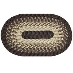 """Alpine Braid Collection Reversible Indoor Area Rug in Vibrant Colors, 20"""""""" x 30"""""""" Oval ,"""