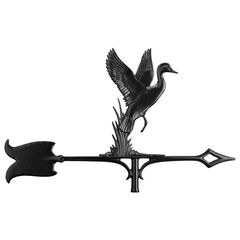 "30"" Duck Accent Weathervane, BLACK"