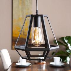 Gemstone Lantern Cage-Style Pendant Lamp,