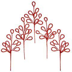 Florist-Style Loopy Tree Pick, Set of 5 ,