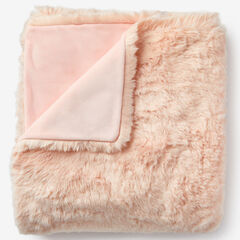 Plush Faux Fur Throw, SOFT PINK