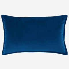 BH Studio Velvet Lumbar Pillow Cover, SAPPHIRE
