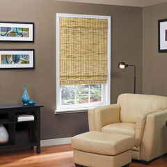 Cordless Natural Woven Bamboo Roman Shade,