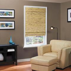 Cordless Natural Woven Bamboo Roman Shade,